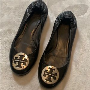 Tory Burch Minnie Ballet Flats with Silver Logo